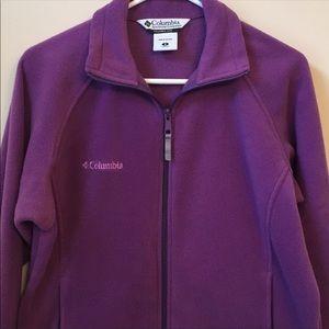 Purple Columbia Fleece Jacket sz S